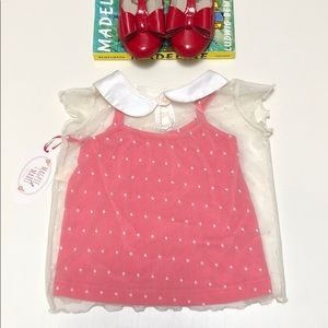 Magpie & Mabel | Swiss Dot Collared Blouse | 4T